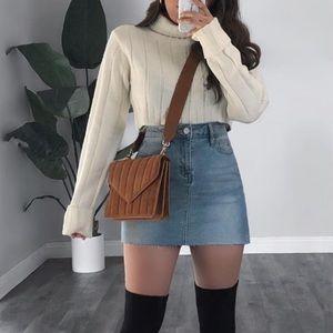Cream Chunky Knit Sweater